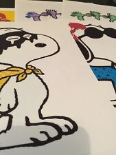SNOOPY art (9) Collection Peanut KAWS SCHULTZ DEATH NYC LITHOGRAPH PRINT  8X10""