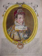 Gravure de HENRI III  Roi de France  Nicolas de LARMESSIN