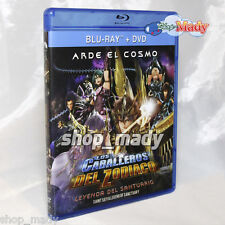 Saint Seiya - Legend of Sanctuary en Español Latino DVD + BLU-RAY + Postal E.E.