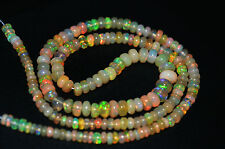 """45 Ct Strand 3*6 mm 14"""" Natural Of Ethopian Fire Opal Gemstone Beads Jewelry"""