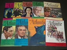 1950 THE ATLANTIC MONTHLY MAGAZINE LOT 9 ISSUES - STORIES & ARTICLES - WR 997