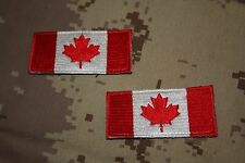 Canadian Forces Subdued Shoulder Patch Flags -medium size- Red & White