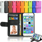 Flat Leather Flip Stand Wallet Case Card Photo Cover For iPhone 4S 5 5S 6/6 Plus