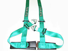 "Takata DRIFT II 4 Point Snap-On 2"" Racing Seat Belt Harness (Green)"