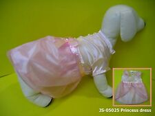Dog apparel hoddie Pink satin lace elegance party dress own design-small dog s-