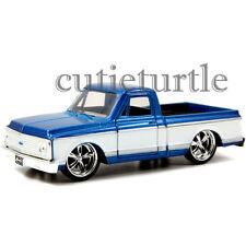 Jada Just Trucks 1972 Chevy Cheyenne Pickup Truck 1:32 Diecast 2Tone White Blue