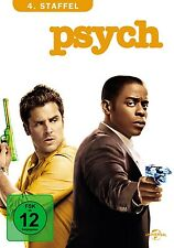 DULÉ HILL,CORBIN BERNSEN JAMES RODAY - PSYCH SEASON 4 4 DVD NEU