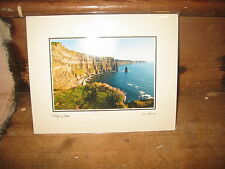 CLIFFS OF MOHER PHOTO  SEAN TOMKINS IRISH LANDSCAPES 10x8' MOUNTED IN BEIGE FRAM