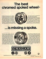 1973 CRAGAR CHROME SPOKED WHEEL  ~  CLASSIC ORIGINAL PRINT AD