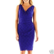 Woman's American Living Lace Purple Dress Size 2 New With Tags MSRP $90.00