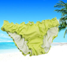 Women Lady Swimwear Scrunch Brazilian Semi Thong Bikini Bottom Beachwear