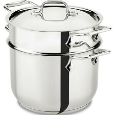 All-Clad Stainless Steel 6 Quart Pasta Pot With Lid & Steamer Basket