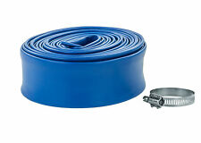 Swimming Pool Backwash Discharge Hose 1-1/2 in x 50 ft w/Band Clamp