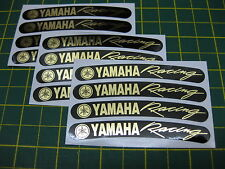 12 Yammy Racing Rim Stickers Mirror Gold on Black All Models