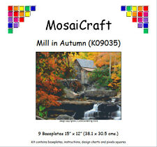 MosaiCraft Pixel Craft Mosaic Art Kit 'Mill in Autumn' (Incl. Dove Tail Clips)