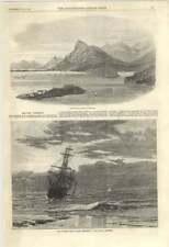 1870 gravosa Harbour Dalmazia Turner MEDAGLIA PREMIO PAESAGGIO