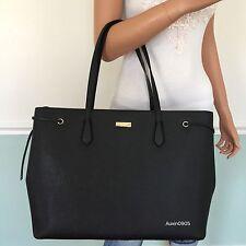 NEW! KATE SPADE Black Laurel Way Leather X-Large Travel Tote Shoulder Bag Purse