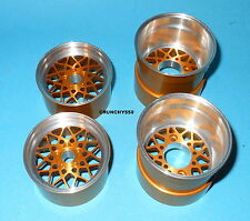 Vintage Sees Aluminum Wheels Team Associated RC10L Gold Anodized Rim 1/10 RC