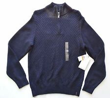 new Calvin Klein Jeans pull over knit sweater black blue mens size small