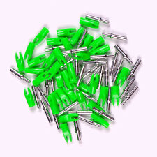 Green Plastic Arrows Nock Inner Dia 4.2MM Aluminum Arrow Nock Pin F/Archery X36