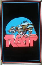 RARE RATT 1984 VINTAGE ORIGINAL BLACK LIGHT MUSIC POSTER