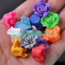 30pcs 20mm Big Flower Polymer Clay Loose Spacer Fimo Beads Random Mixed