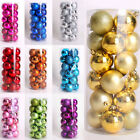 Xmas Decorations Christmas Tree Decoration 24 Pack 40mm Shatterproof Baubles