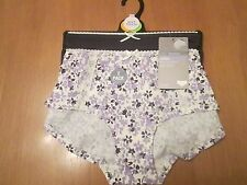 Marks & Spencer SALE 2 pack low rise short knickers 1 x blue 1 x whit size 10/12