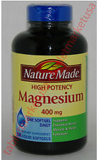 Nature Made Magnesium High Potency 400 mg 150 Soft-Gels 1 Softgel Daily