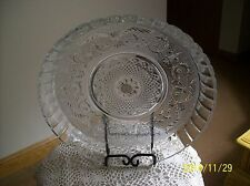Malaysia Crystal Clear KIG Elegant Vintage Serving Dish Celtic Sword & Scroll