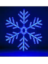 Blue & Bianco Fiocco Di Neve LED Luce Winter wonderland Christmas 60cm