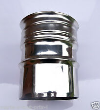 Raccord inox rigide pour flexible mâle de diamètre 100mm évacuation fumées poele