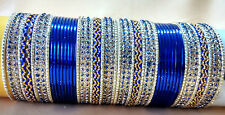 Indian Traditional 48pcs Blue Colour Wedding Bridal Bangle Set Jewellery 2.8.