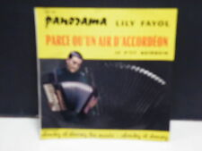 LILY FAYOL Parce qu un air d accordeon / le p'tit quinquin MH66