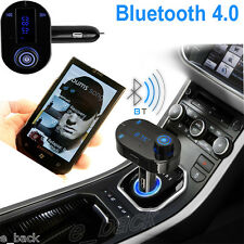 Car Kit FM Transmitter Bluetooth Hands-free LCD MP3 Player Radio Adapter Charger