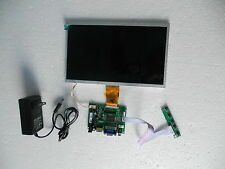 "10"" inch LCD monitor display with VGA HDMI AV input ports for Raspberry PI DIY"