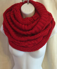 Michael Kors Large Knit Infinity Scarf Red $78