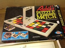Vintage Retro Rubiks puzzle Match Tiles Game by Ideal RARE 1982 Complete