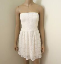 NWT Abercrombie Womens Strapless Lace Dress Size Small Cream Sundress