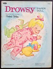 Mattel DROWSY Paper Dolls Book, Uncut 1965, 6 Pgs of Clothes
