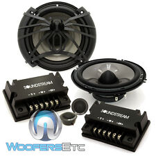 "SOUNDSTREAM AC.6 6.5"" CAR 300W 2-WAY COMPONENT SPEAKERS TWEETERS CROSSOVERS NEW"