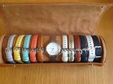 Fossil Ladies Jacqueline Three Hand Silver /Leather Watch Set ES3963SET