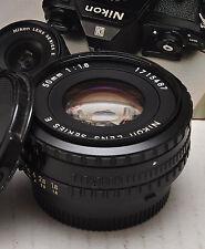NIKON 50MM F1.8 Ais Black Ring PANCAKE LENS use with DSLR inc FX
