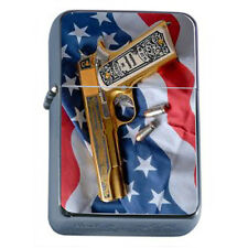 Windproof Refillable Oil Lighter 2nd Amendment D9 Gun Rights Arms Constitution