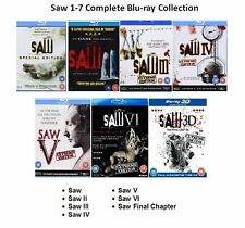SAW COMPLETE MOVIE COLLECTION Blu Ray PART 1 2 3 4 5 6 7 SET All Film Sealed Box
