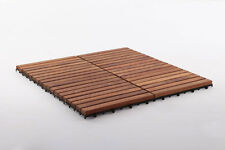 Teak Wood Shower/Spa/Pool/Deck Tile 9 slats, 10 pcs per box, Premium oiled, Wood