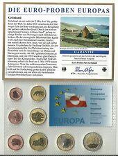 Grönland 2004 Euro-Probenset 1 cent- 2 Euro im Blister Stempelglanz-Selten