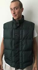 Wolrich Men's Green Winter Duck Down Vest Nylon John Rich And Bros Zip Up Button