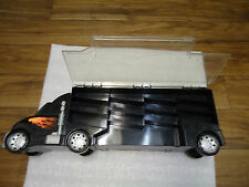 Unique black Truck Tractor-Trailer storage container for small parts 2 sided
