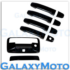 14-15 Chevy Silverado 1500 Gloss Black 4 Door Handle+Tailgate+Camera Hol Cover
